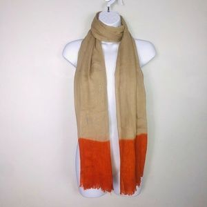 2 Chic Scarf Big Over Sized Brown Orange Wrap MB34